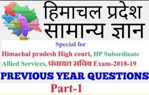 hp gk important question for all exam